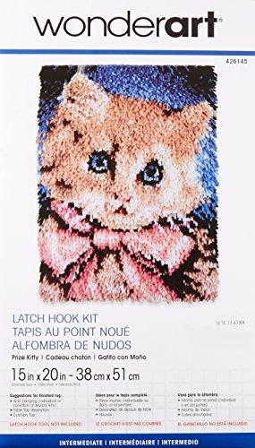 Patons Wonderart Prize Kitty Latch Hook Kit, 15