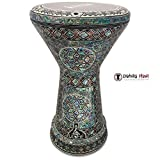 The Diamond Sun NG 2.0 Sombaty Gawharet El Fan 18.5'' Darbuka With Real Green Mother of Pearl