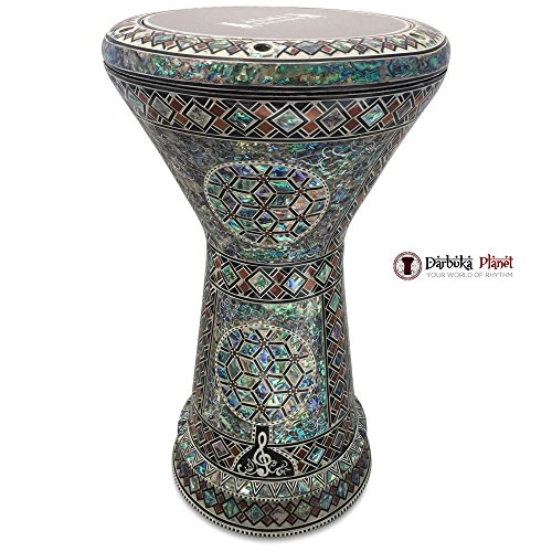 The Diamond Sun NG 2.0 Sombaty Gawharet El Fan 18.5'' Darbuka With Real Green Mother of Pearl by Gawharet El Fan