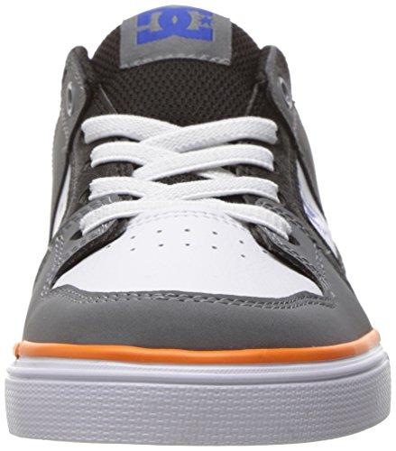 DC  Pure Elastic, Jungen Skateboardschuhe mehrfarbig Schwarz / Blau / Schwarz, - Grey/Blue/White - Größe: 30 EU Kinder