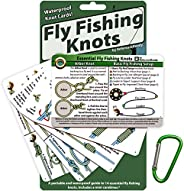 ReferenceReady Fly Fishing Knot Cards - Waterproof Guide to 14 Essential Fly Fishing Knots - Includes Mini Car