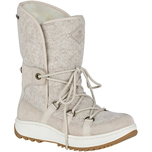 Sperry Top-Sider Women's Powder Ice Cap Snow Boot, Ivory, 6 Medium US