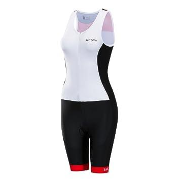 Wulibike Traje de Ciclista sin Mangas Triathlon Tri Suit ...