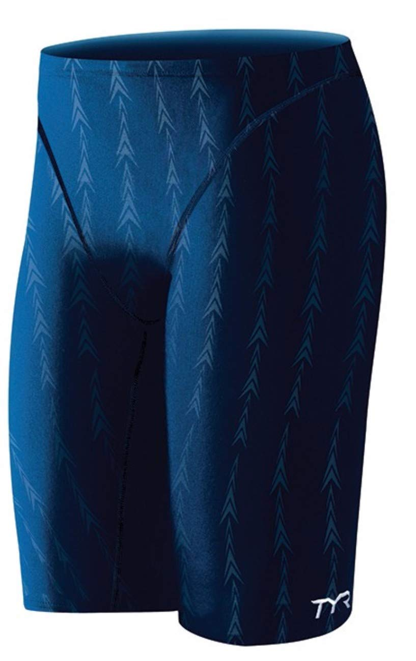 TYR Men's Fusion 2 Jammer Swim Suit (Navy, 32 -Inch) by TYR
