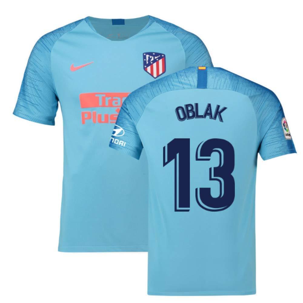 2018-2019 Atletico Madrid Away Nike Football Soccer T-Shirt Trikot (Jan Oblak 13)