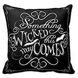 quilted velour throw - Pillowcase,Ammazona Something Wicked Chalkboard Halloween Throw Home Decorative Throw Pillow Cover (E)