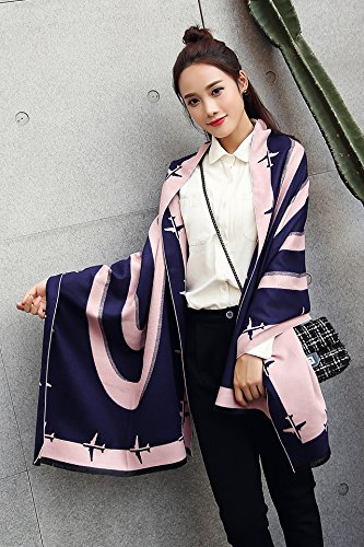 Generic Autumn and winter in Europe and America cashmere scarf shawl long section of dual-use aircraft runway thick scarf women girls lady Spring and Autumn