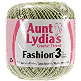 Coats Crochet Aunt Lydia's Fashion Crochet, Cotton Size 3, Lime