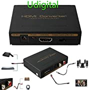 #LightningDeal 55% claimed: Udigital 1080P 3D HDMI Audio HDMI to HDMI + Optical SPDIF + RCA L / R Stereo Audio Video Splitter Converter(HDMI input,HDMI+ Toslink/Analog Audio output)-Include AC Adapter