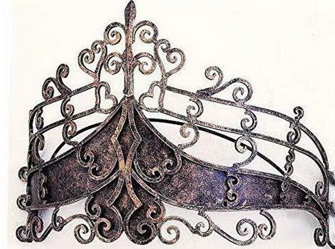 Hebel Metal Wall Teester Bed Canopy Drapery Crown Hardware | Model BDCNPS - 112 |