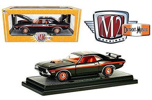 Price comparison product image New 1:24 Detroit-Muscle - BLACK 1970 DODGE CHALLENGER R / T HEMI Diecast Model Car By M2 Machines