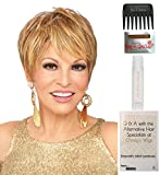 Cutting Edge Wig by Raquel Welch, Christy's Wigs Q & A Booklet, 2oz Travel Size Wig Shampoo, Wig Cap & Wide Tooth Comb COLOR SELECTED: R6/30H