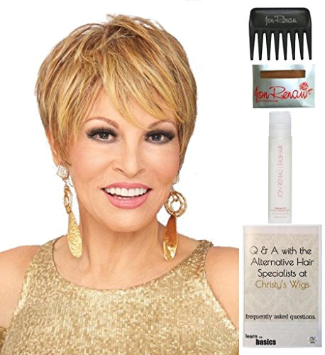 Cutting Edge Wig by Raquel Welch, Christy's Wigs Q & A Booklet, 2oz Travel Size Wig Shampoo, Wig Cap & Wide Tooth Comb COLOR SELECTED: R6/30H by Raquel Welch & Christy's Wigs