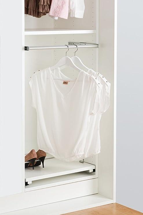 Gedotec ausziehbare Kleiderstange Schrank Schrankrohr aus ...