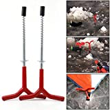 2pcs Ice Fishing Rod Stand Outdoor Y Shape Holder rests Rack Tackle Pole Tent Pegs Travel Fixed Ice Pitons Screw Nail Auger Drill