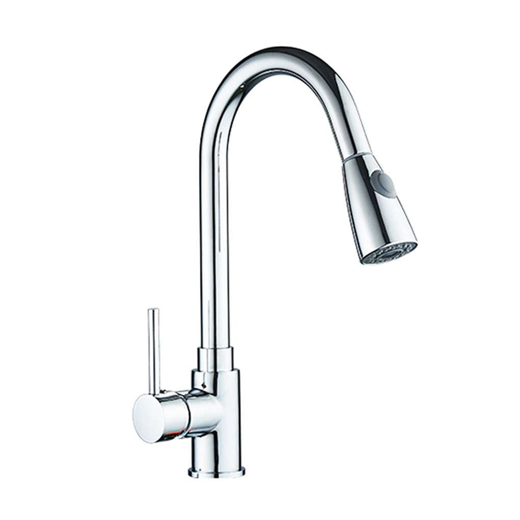MuLuo Kitchen Faucets Single Handle Pull Out Kitchen Tap Swivel 360 Degree Water Mixer Tap Faucets