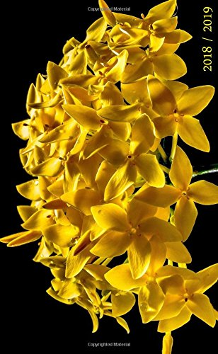 2018 / 2019: Yellow Flower. Pocket Planner, 4