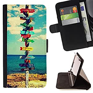 Super Marley Shop - Leather Foilo Wallet Cover Case with Magnetic Closure FOR Sony Xperia Z1 C6902 C6903 C6906- California Summer