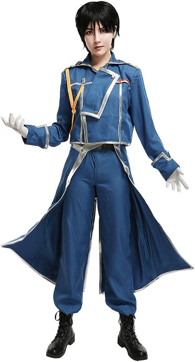 Full Metal Alchemist Roy Mustang Uniform Suit Cosplay Costume