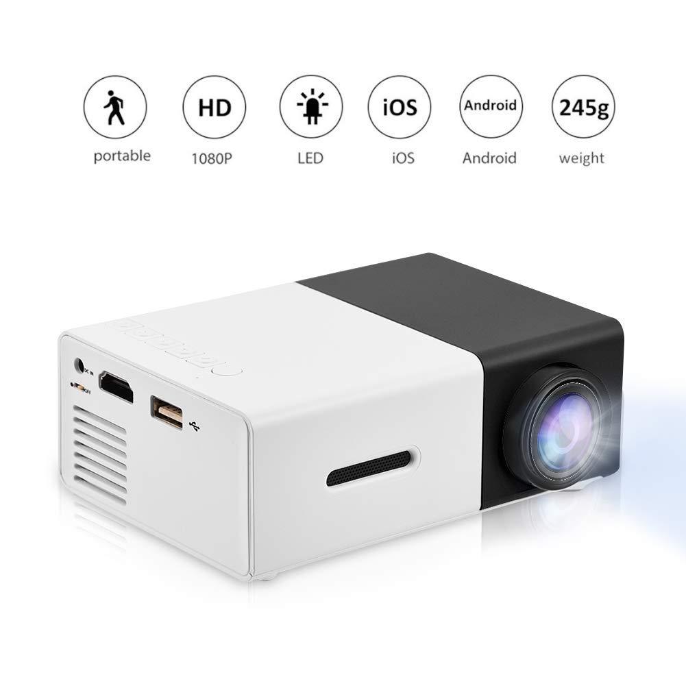 AI LIFE Proyector LED 1080P Mini proyector portátil Home Cinema ...