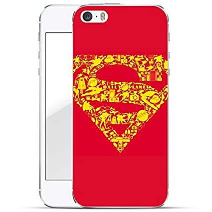 Justice League Series Carcasa Dura Iphone - Superman logo iconos, Iphone 5/5S