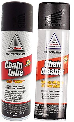 Honda Pro Chain Lube (15oz) and Chain Cleaner (15oz) Combo Kit by Honda