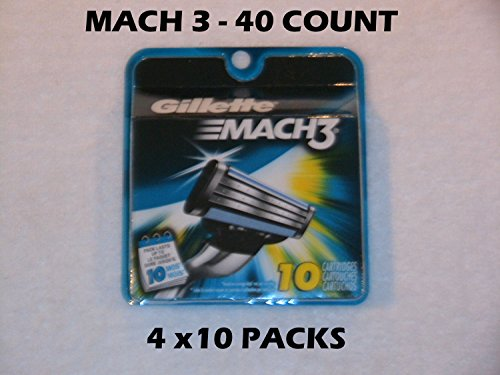Gillette Mach 3 - 40 Count (4 x 10 Packs) by Gillette