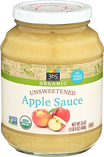 365 Everyday Value Organic Unsweetened Apple Sauce, 24 oz (Unsweetened Applesauce)