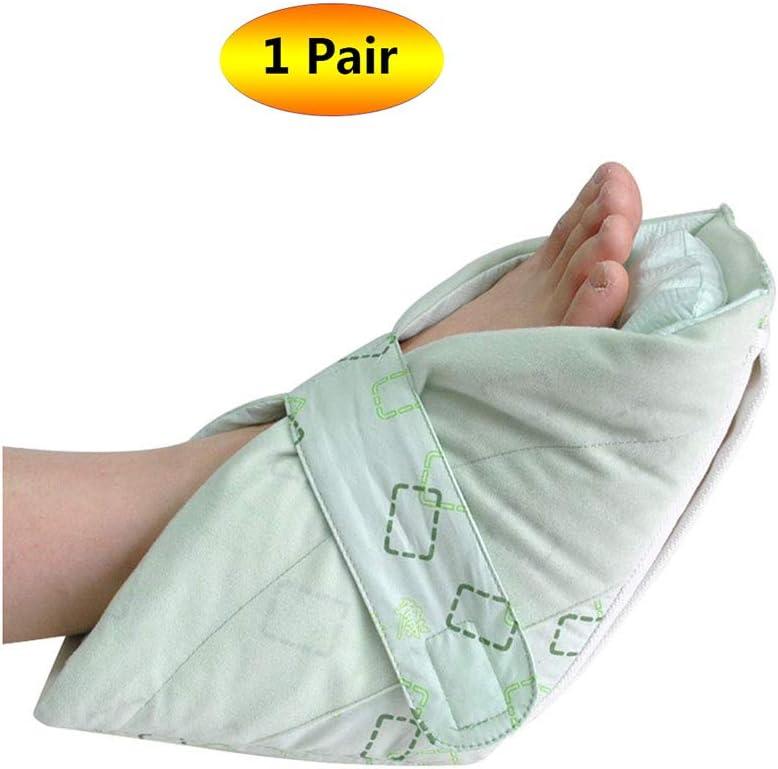 ヒールプロテクター、ソフト慰めヒール枕、ヒールフロートヒールプロテクター、高齢者の足補正カバー,1Pair