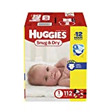 HUGGIES Size One Snug & Dry Diapers give your baby great protection at a great value. Four layers of protection absorb moisture quickly to help stop leaks for up to 12 hours, and a quilted liner helps to keep your baby dry and comfortable...