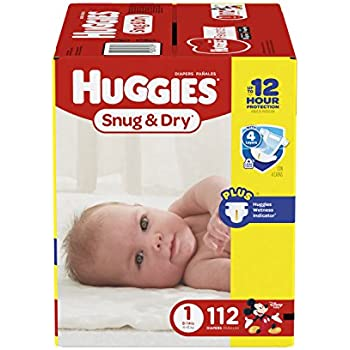 Amazon Com Huggies Little Snugglers Diapers Size 1 168