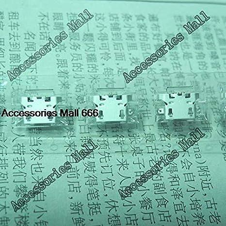 Charging Port for Lenovo A830 A850 S820 A780 A670T A590 A800 S820 DC Connector Computer Cables 5-200 PCS Micro USB Charging Jack 5-pin Cable Length: 10 pcs