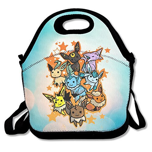 Costume Easy Eevee (Bakeiy Eevee Evolution Lunch Tote Bag Lunch Box Neoprene Tote For Kids And Adults For Travel And Picnic)