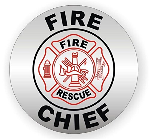 (1-Pc Paradisiacal Popular Fire Chief Rescue Vinyl Stickers Sign Safety Helmet Chemical Resistant Safe Work Shop Size 2