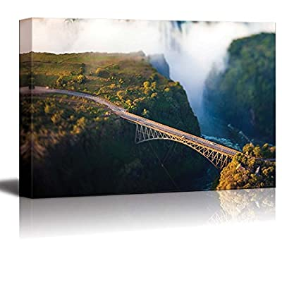 Canvas Prints Wall Art - Bridge at Victoria Falls, a Bungee-Jumping Hot Spot - 32