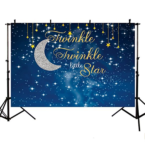 MEHOFOTO Photo Studio Booth Background Night Blue Starry Sky Twinkle