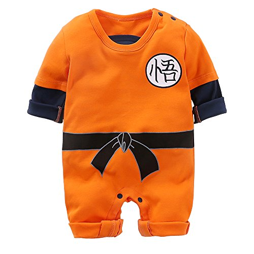 Yierying Newborn Wukong Jumpsuits Baby Lovely Long Sleeve Cartoon Romper Baby Clothes by Yierying