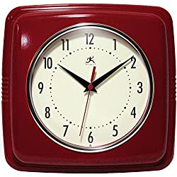 Infinity Instruments 13228RD-4103 Square Clock, Red