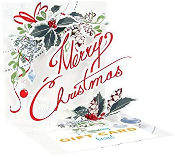 Merry Christmas Gift Card.Amazon Com Merry Christmas Up With Paper Pop Up Christmas