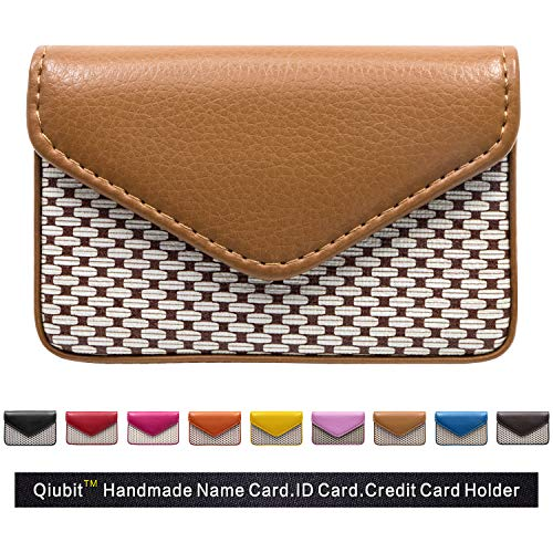 Multipurpose PU Leather Business Card Holder Wallet Leather Credit Card ID Case/Holder / Cards Case with Magnetic Shut.Perfect Gift (Kaki)