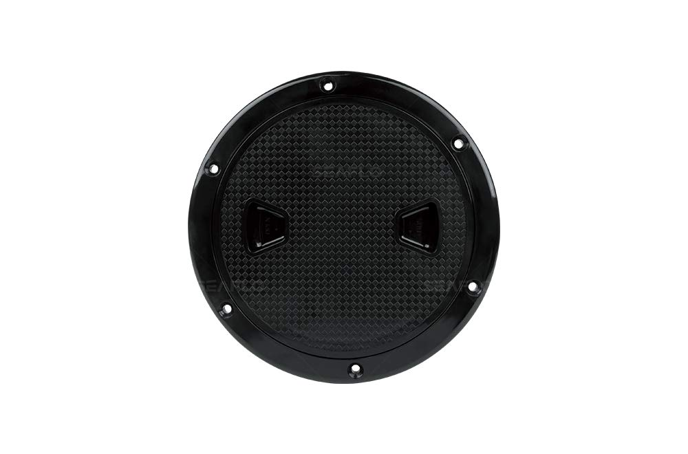 SEAFLO 4'' - 8'' Black Circular Non Slip Inspection Hatch w/Detachable Cover (6'') by SEAFLO