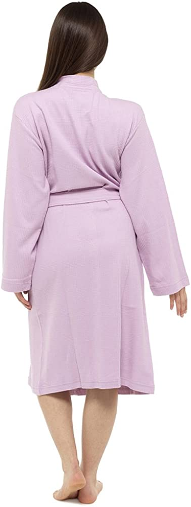 Octave/® Ladies Summer 100/% Cotton Soft Touch Waffle Bath Robe Dressing Gown