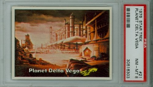 1976 Topps Star Trek 21 Planet Delta Vega PSA 8 Near Mint to Mint