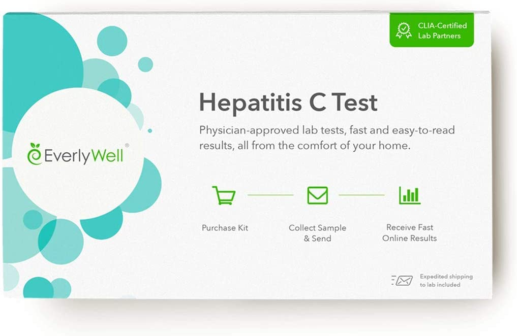 Everlywell Hepatitis C Test - at Home - CLIA-Certified Adult Test - Discreet, Accurate Blood Analysis - Results Within Days - Not Available in New York, NJ, RI