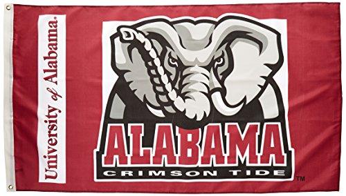 Alabama Crimson Tide Flag (NCAA Alabama Crimson Tide Elephant Logo 3-by-5 Foot Flag with Grommets)