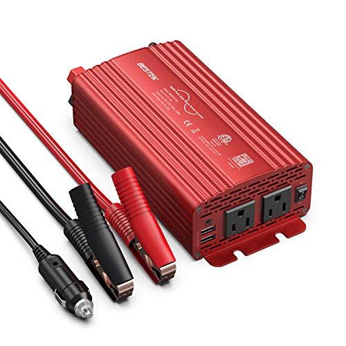BESTEK 500W Pure Sine Wave Power Inverter DC 12V to