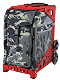 Zuca ''Anaconda'' Camouflage Sport Insert Bag with Red Frame, Gift Seat Cushion