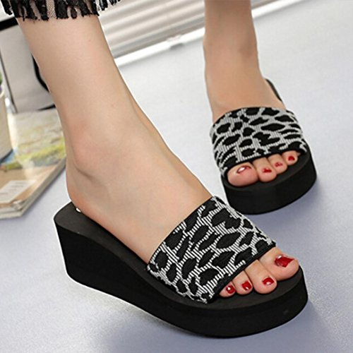 VEMOW Sandals for Women Ladies Girls 2018 Spring Summer New UK Grey Red Eva Sexy Daily Beach Rubber Shoes Platform Bath Slippers Wedge Beach Slope Flops Slippers Shoes Grey tEBAJvNT