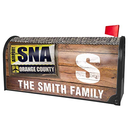 NEONBLOND Custom Mailbox Cover Airportcode SNA Orange County]()