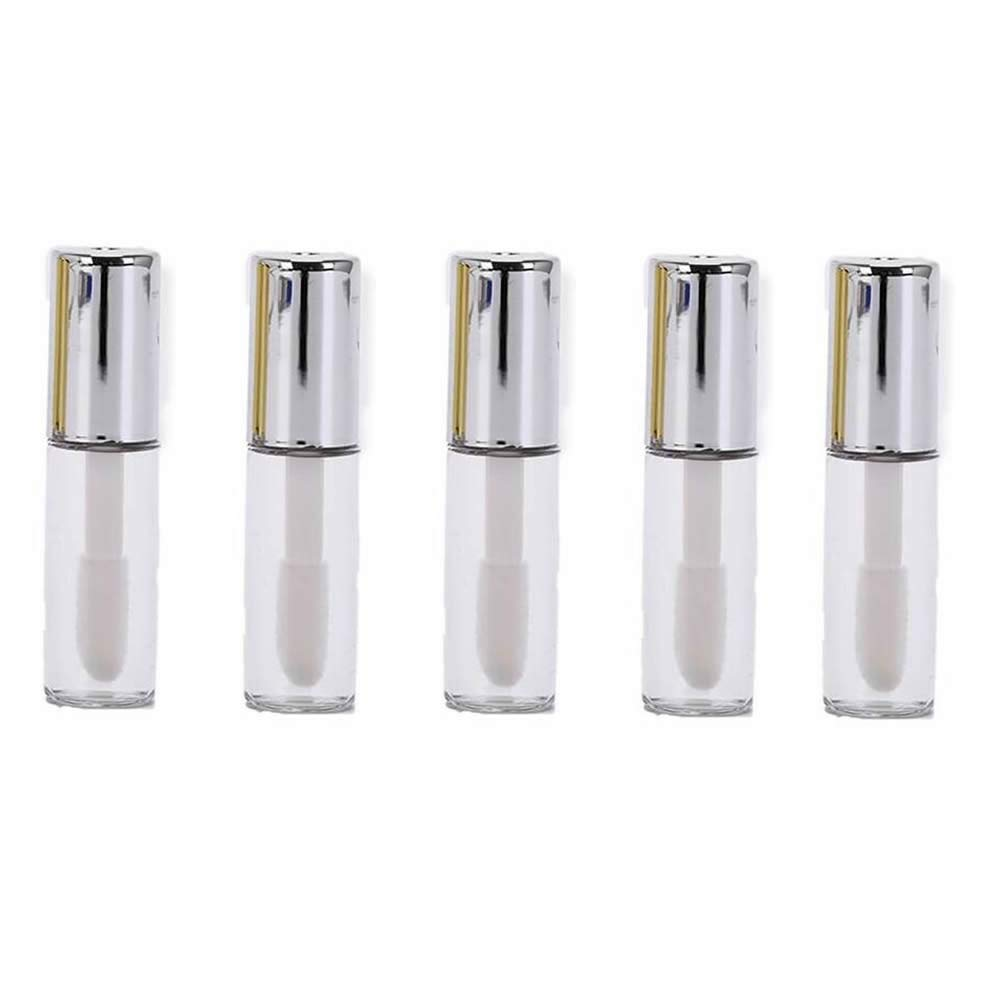 GOOTRADES 20 Pack 1.2ml Gold Cap Reusable Empty Lip Gloss Balm Tube Bottle DIY Container Vials